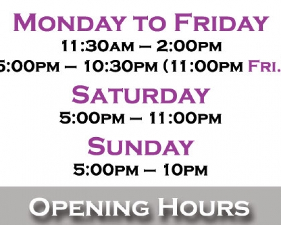 8 – Opening Hours
